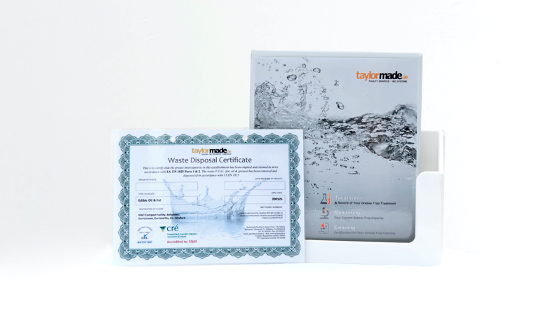 Compliance Manual and a Waste Disposal Certificate